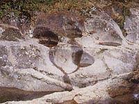釜ヶ入の甌穴(根羽村)