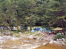 二軒屋キャンプ場(泰阜村)