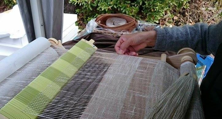 藤織り体験2