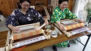 遠山の藤織り体験③