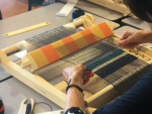 遠山の藤織り体験④