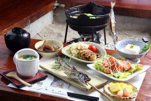 ⑦いろりの宿 島畑にて夕食(料理)