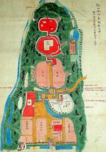②飯田城外廓開墾之図(飯田市美術博物館蔵)