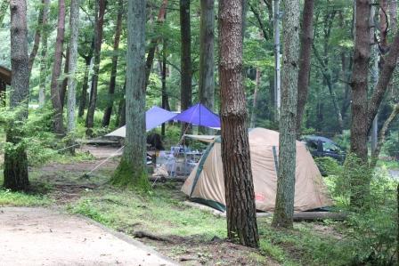 野底山森林公園キャンプ場(飯田市)