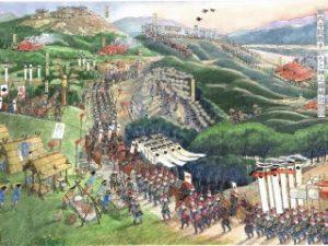 ⑦(メイン)神之峰城の攻防(画:池上典)